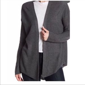 NWT 14th AND UNION | Gray Open Knit Cardigan Sz. M